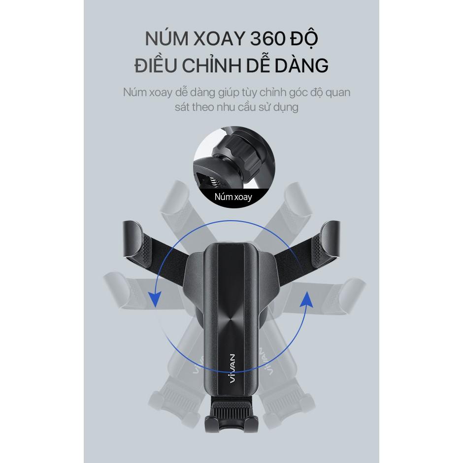 Giá Đỡ Điện Thoại Xe Ô Tô VIVAN CHS09 Phù Hợp Điện Thoại 4.0-6.5 inch Xoay 360 Độ