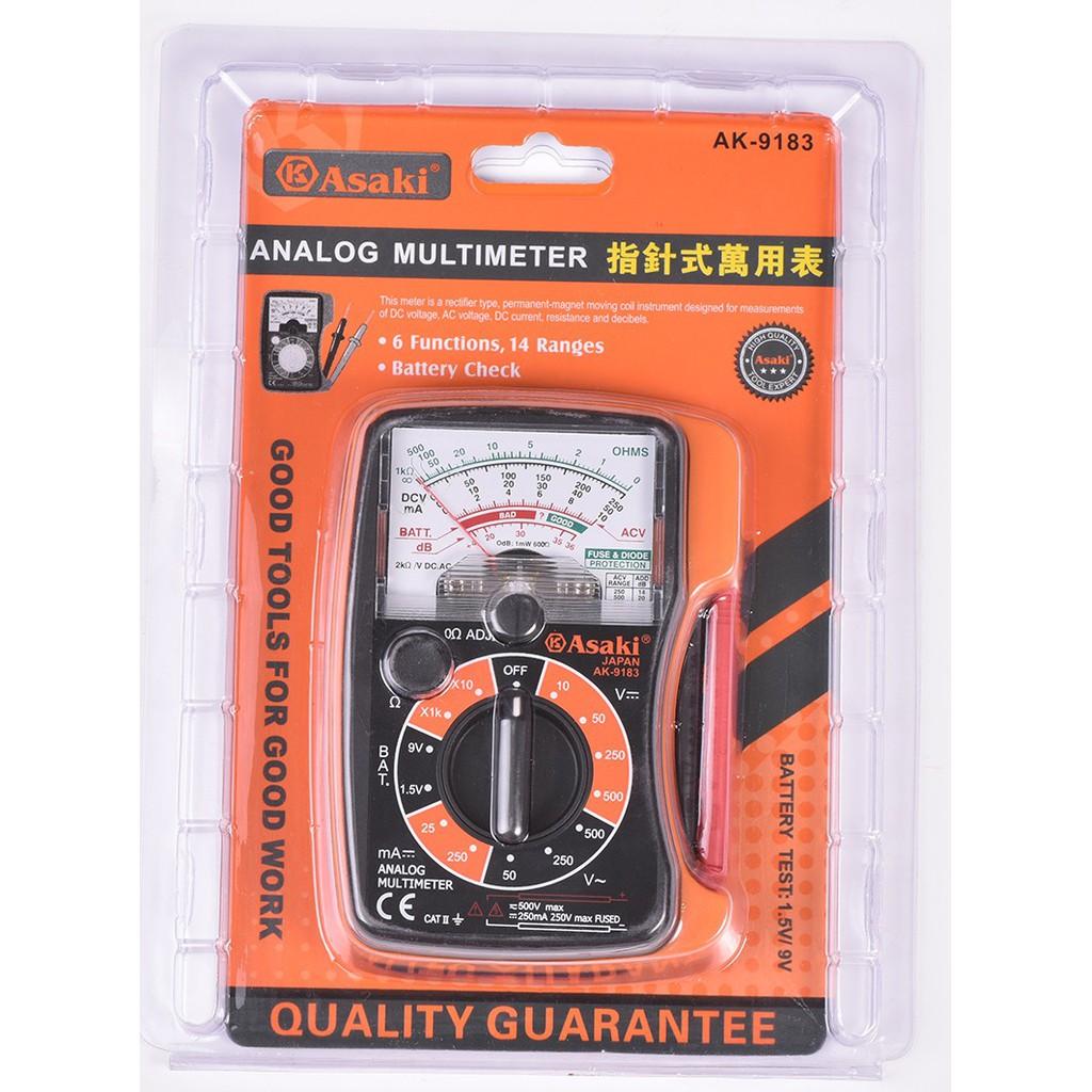 Đồng hồ kim đo điện vạn năng cao cấp Asaki AK-9183 - 3036752 , 584407090 , 322_584407090 , 259000 , Dong-ho-kim-do-dien-van-nang-cao-cap-Asaki-AK-9183-322_584407090 , shopee.vn , Đồng hồ kim đo điện vạn năng cao cấp Asaki AK-9183
