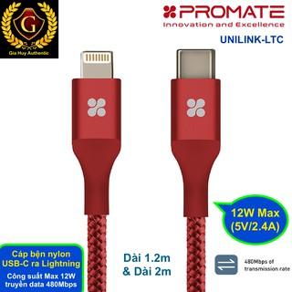 Cáp sạc và đồng bộ dữ liệu cho iPhone, iPad với Macbook PROMATE UNILINK-LTC dài 1.2m 2m thumbnail