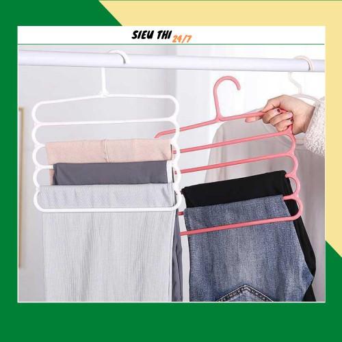 ⚡BÁN SỈ⚡ Móc treo quần áo nhiều tầng bằng nhựa 88203