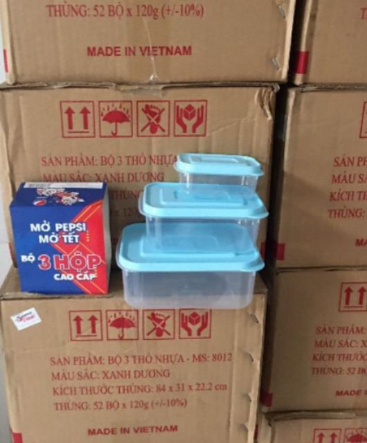 ⚡️𝐅𝐑𝐄𝐄 𝐒𝐇𝐈𝐏⚡️ Bộ 3 hộp nhựa đựng thực phẩm PEPPi