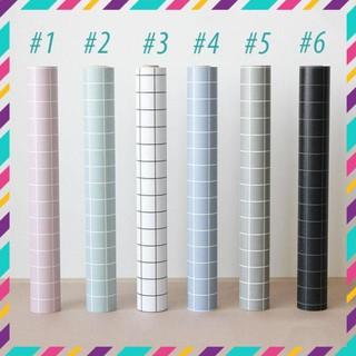 Giấy dán tường kẻ ô phong cách sang trọng Hàn Quốc Khổ 5M HPMWallpaper Zooyoo