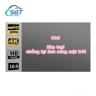SGT Màn chiếu kích thước từ 60inch - 133inch (1m33 - 3m). Vải màn cao cấp kim loại chống lại ánh sáng mặt trời 16 9 thumbnail