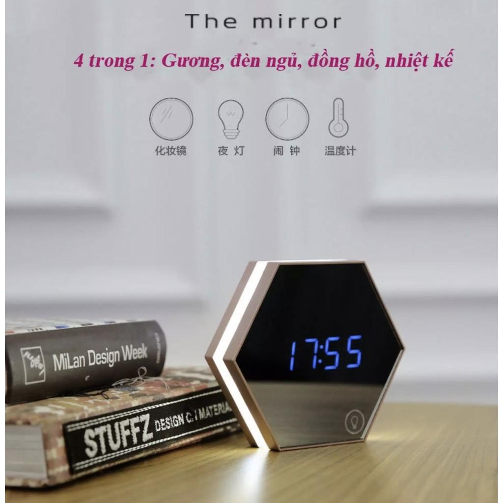 [Deal huỷ diệt] Đồng hồ báo thức gương soi hot nhất hiện nay