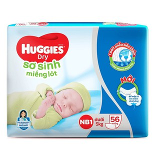 Miếng lót sơ sinh Huggies Newborn 1 (0-5kg) - N56 (Gói 56 miếng) thumbnail