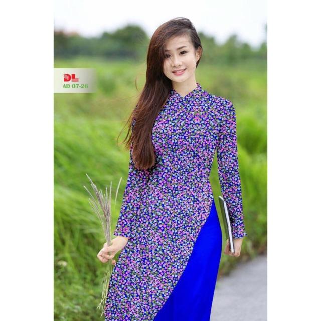 Vải áo dài hoa nhí