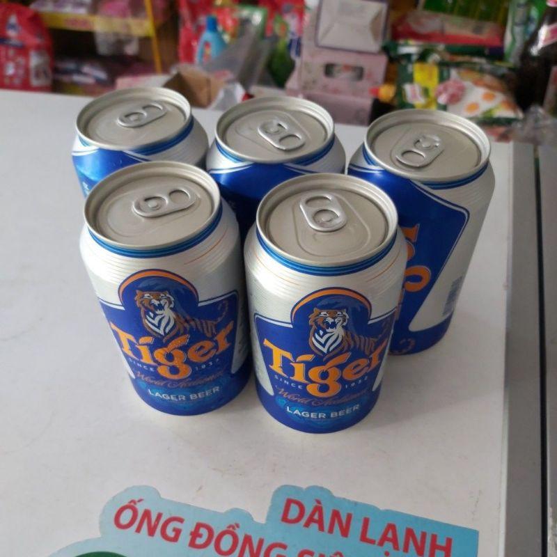 Combo 5 lon bia Tiger 330ml