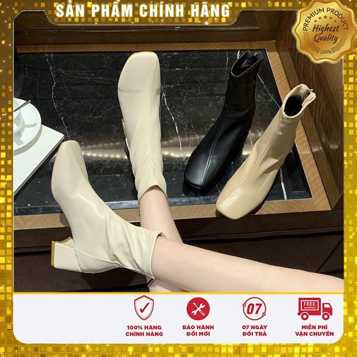Bốt da (Boot) mẫu mới 2020 - CỰC ÔM CHÂN - KHÓA KÉO GÓT phong cách Hàn Quốc siêu xinh