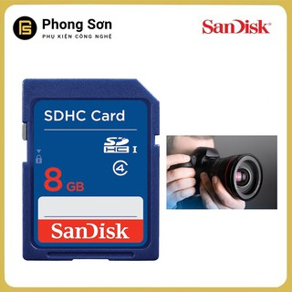 [Mã ELCADEC hoàn 8% đơn 500k] Thẻ nhớ SDHC 8GB Class4 Sandisk