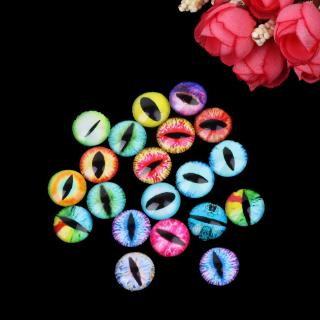 DE❀ 20Pcs Glass Doll Eye Making DIY Crafts For Toy Dinosaur Animal Eyes Accessories