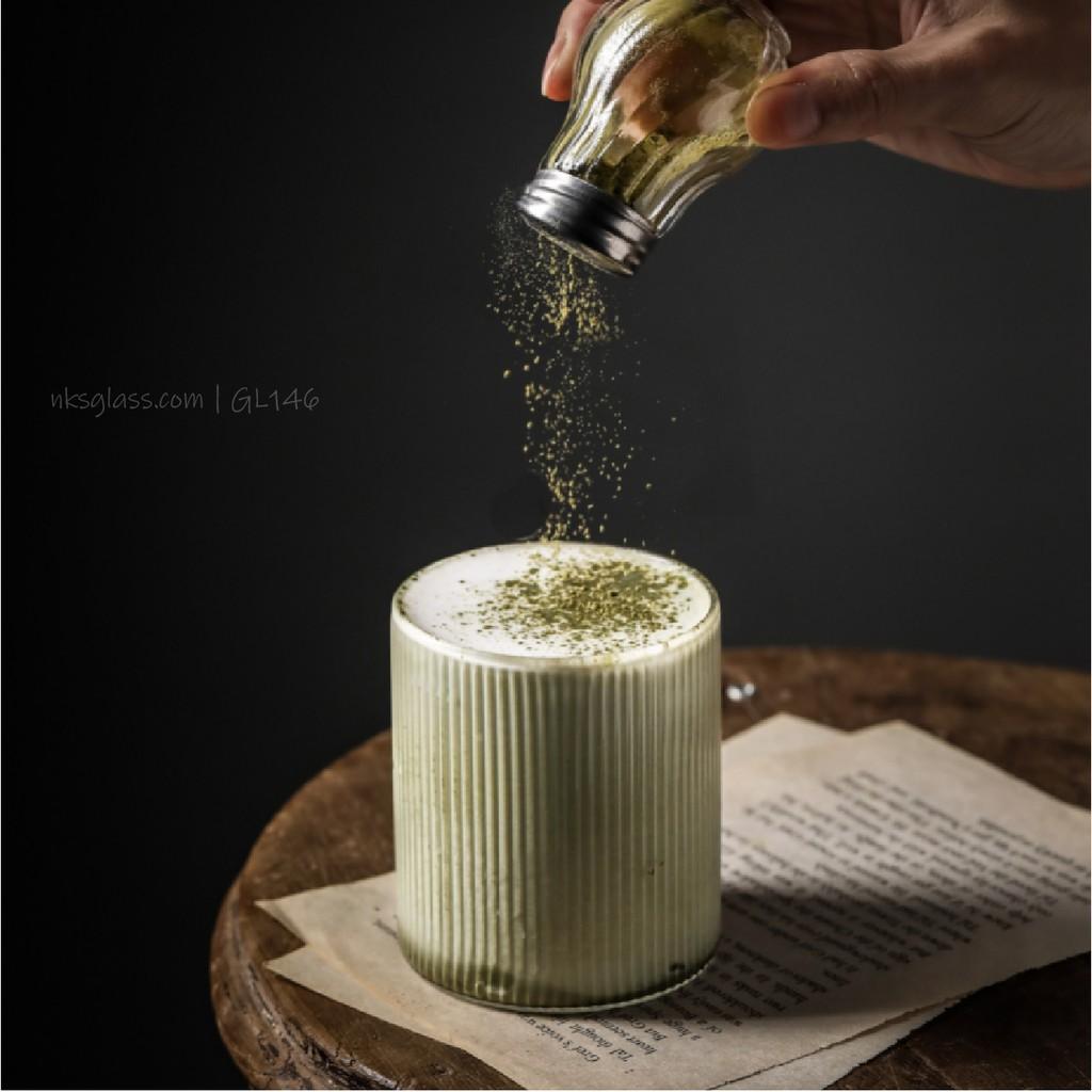 Ly thủy tinh - Ly latte caramel NKS.GL146 size 300ml - Nks.Home.Vn