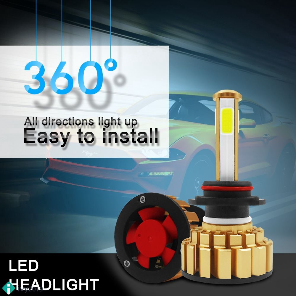 ♞【G7】1 Đèn pha ô tô 9005 / HB3 / H10 R7 9005 1500W 225000lm siêu sáng