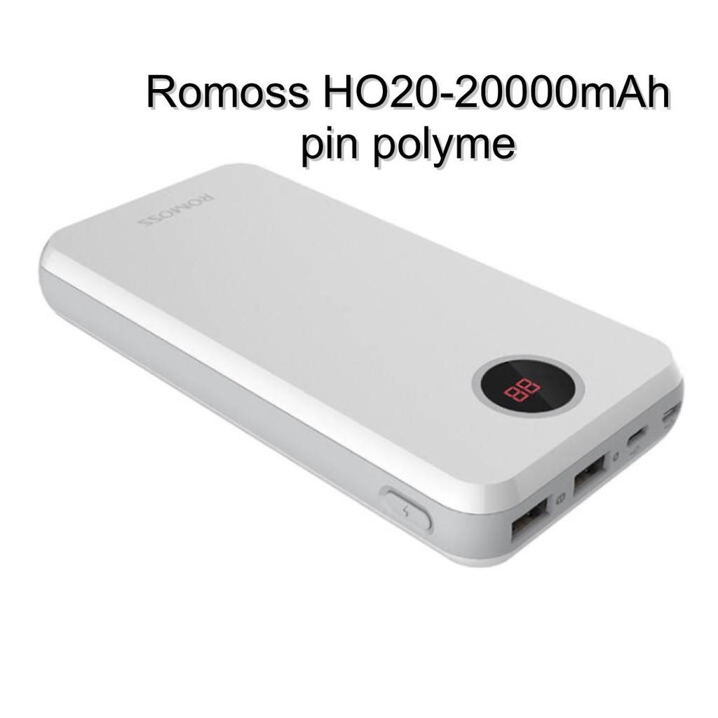 Pin dự phòng Romoss HO20 polymer 20000mAh