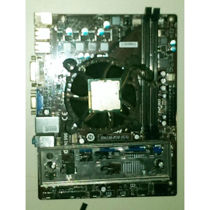 Combo bộ sản phẩm Mainboard H61 + CPU 2020 + DDR3_4G + Quạt tản nhiệt Intel