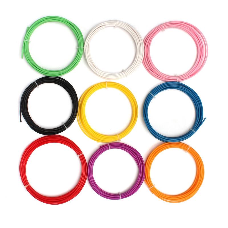1pc 5M ABS 3D Printer Filament 3mm RepRap Sales Pen MakerBot For 3D Printer Pen Threads 9 Color For