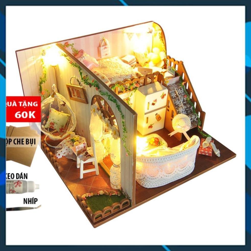 Mô hình nhà búp bê gỗ DIY Nhà búp bê Spring Flower Language TYUD10 Toy World