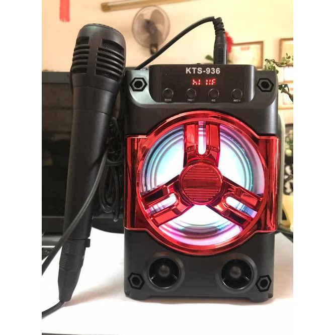 Loa Thùng Xách Tay Hát Karaoke KTS-936 tặng kèm Mic dây