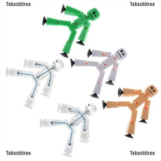Takashitree✐❥ 1Pcs Movable Joint Figure In Action Suction Cup Funny Deformable Toys