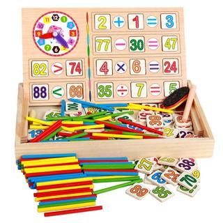 Bộ đồ chơi gỗ hai mặt cho Bé học Toán