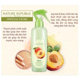 Tẩy da chết toàn thân dạng xịt NATURE REPUBLIC SKIN Smoothing Body Peeling Mist - Peach 250ml-1