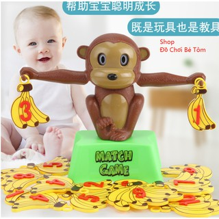 Đồ chơi cân chú khỉ cân bằng xinh xắn giáo dục cho các bé