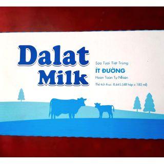 1 thùng sữa tươi ít đường 180 ml của đà lạt milk