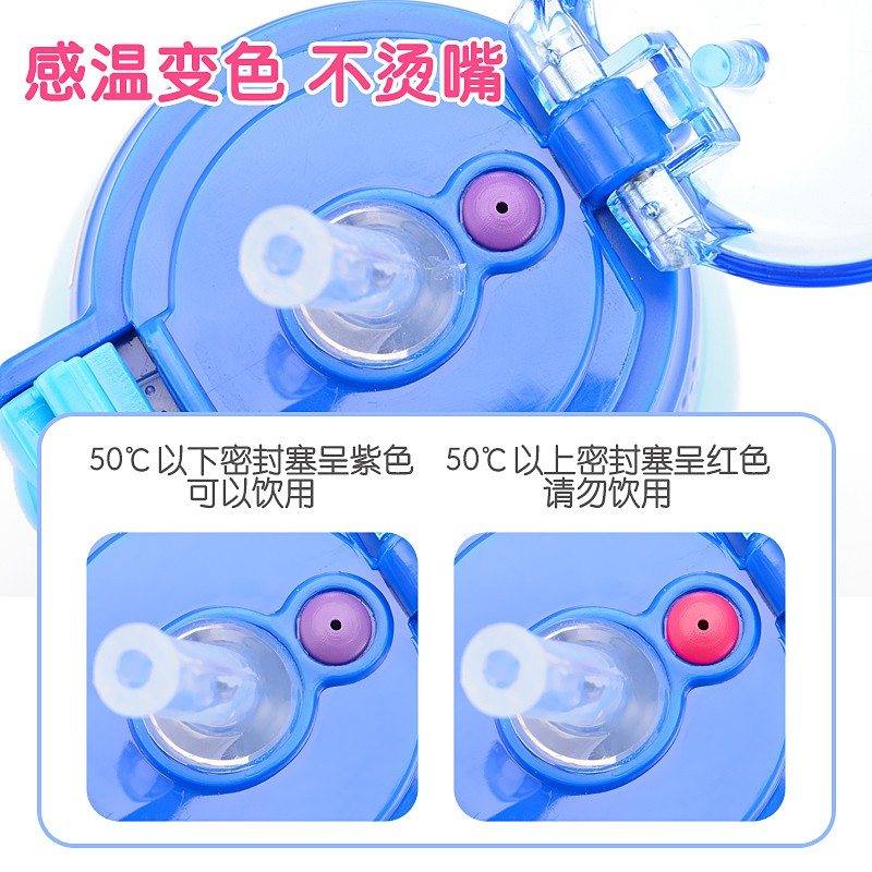 Twinbell เด็กแก้วด้วยฟางคู่ใช้ป้องกันการล่มสลายของนักเรียนในโรงเรียนอนุบาลถ้วยน้ำขวดน้ำแบบพกพา