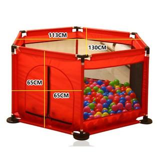 Lều quây bóng vải dù khung thép cho bé tặng kèm 15 quả bóng