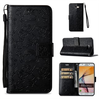 For Samsung Galaxy J7 Prime double embossed flip holster