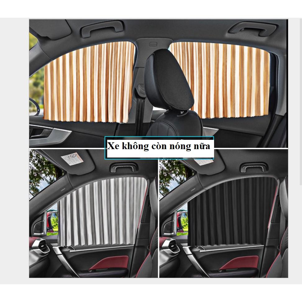 [Giá 1 Bộ 4 Cửa] Rèm vải che nắng xe hơi ray trượt gắn nam châm tiện dụng
