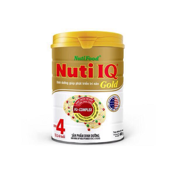{ nhập TKB0718W4B giảm 3% } Sữa bột Nuti IQ Gold 4 900g (2 - 6 tuổi)