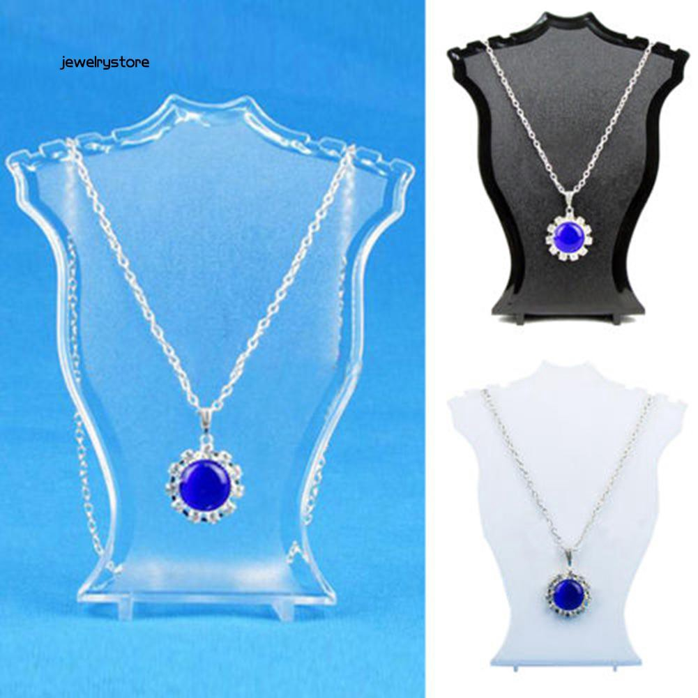 ✨SP✨ High Pendant Necklace Earrings Bust Neck Jewelry Display Stand Holder Showcase