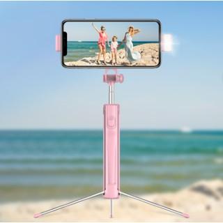 Gậy tự sướng Siêu dài + Có đèn ánh sáng Led hỗ trợ chụp ảnh đẹp, có nút Bluetooth chụp xa