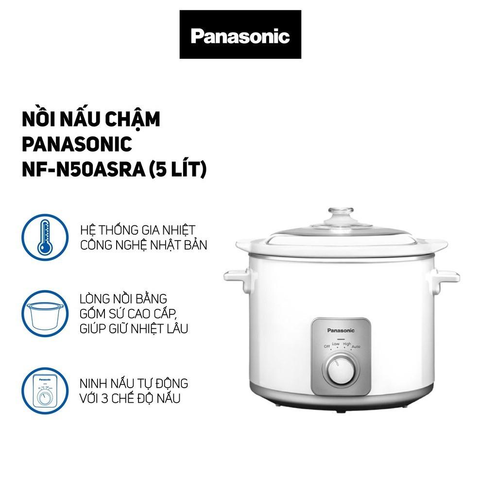 Nồi hầm chậm dung tích 5 Lít Panasonic NF-N50ASRA sản xuất Malaysia - Hàng Chính Hãng, bảo hành 12 tháng
