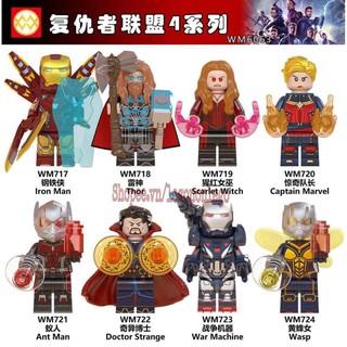 Minifigure siêu anh hùng Marvel EndGame mới nhất WM6063 Thor IronMan..