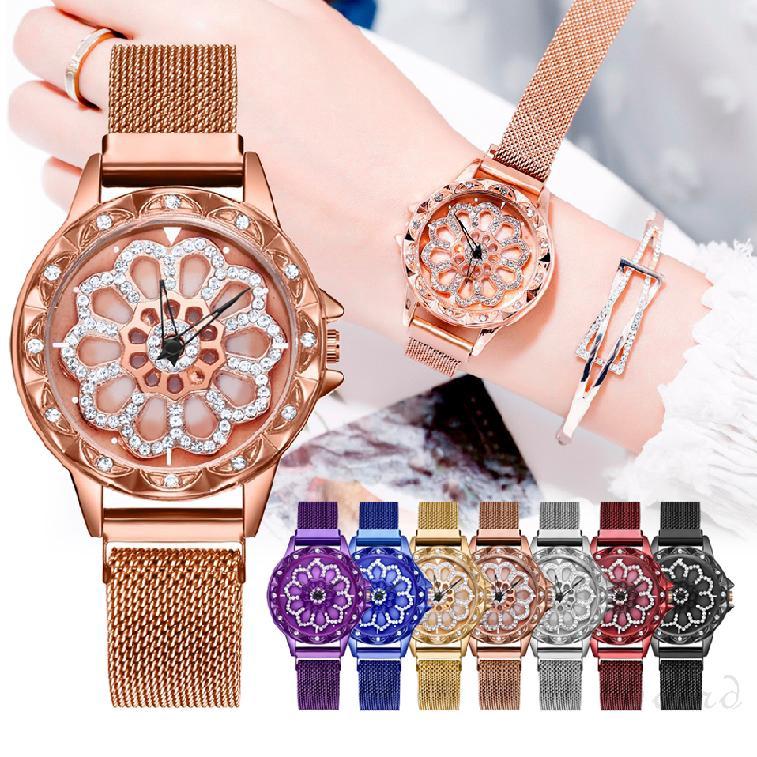 เวลาสร้างสรรค์เพื่อเรียกใช้สุภาพสตรีหัวเข็มขัดแม่เหล็กพร้อมควอตซ์นาฬิกาข้อมือรุ่นหญิง 530