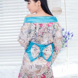 💪💪✹Áo choàng ngủ kiểu Kimono thiết kế quyến rũ cho nữ