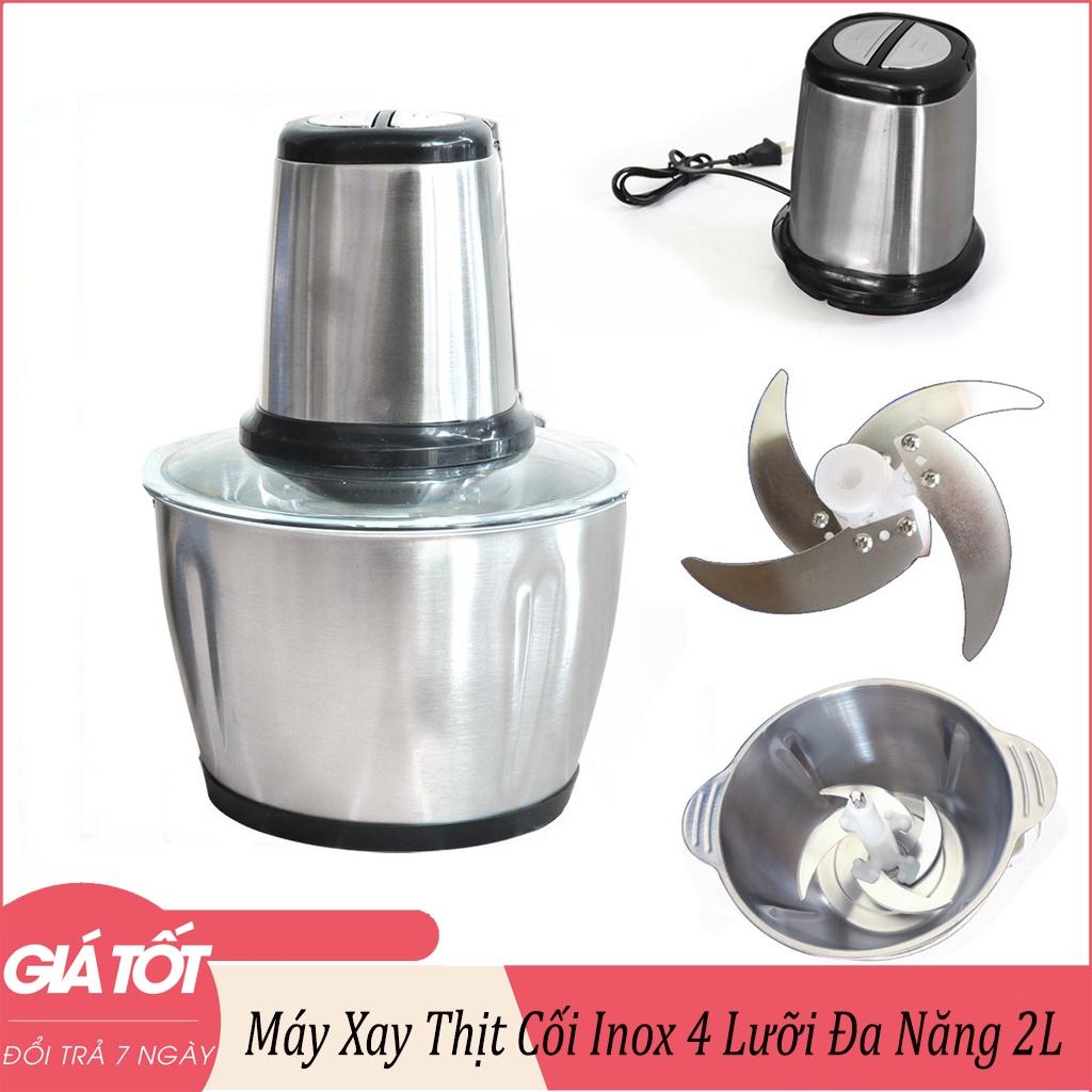 Máy Xay Thịt Cối Inox 300W Dung Tích 2-3L Công Suất Lớn-Máy xay giò chả mini gia đình, Máy xay sinh tố, Máy xay đa năng