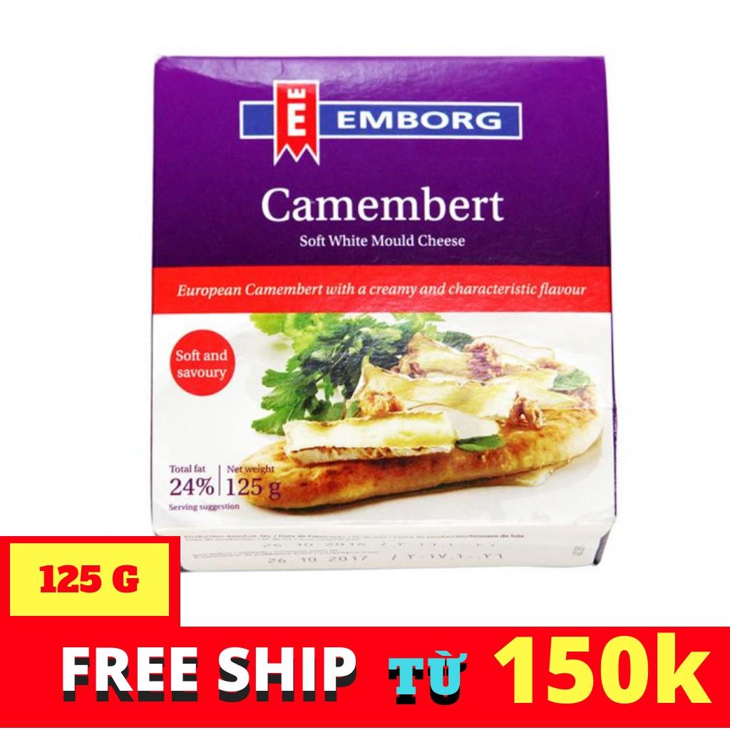 PHÔ MAI EMBORG CAMEMBERT HỘP 125G PHÔ MAI EMBORG CAMEMBERT HỘP 125G