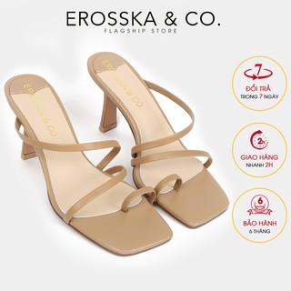 Dép cao gót thời trang Erosska xo ngo n phong ca ch Ha n Quô c cao 7cm màu nude _ EM065 thumbnail