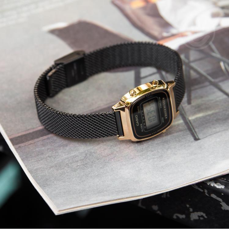 Đồng hồ nữ Casio LA670WEMB-1DF chính hãng Anh Khuê - dây thép, chống nước tuyệt đối - Có tem chống hàng giả