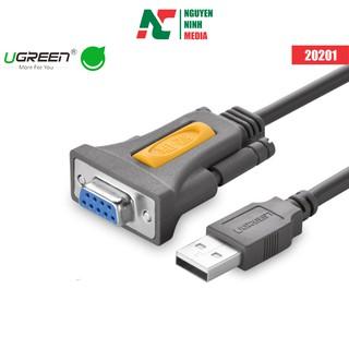 [Mã ELFLASH5 giảm 20K đơn 50K] Cáp Chuyển Đổi USB to Com RS232 (Đầu âm) Ugreen 20201 (1.5m) - Hàng Chính Hãng