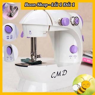 Máy may mini CMD gia đình may được vải thun,vải bò tích hợp đèn và cắt chỉ cầm tay tiện dụnghỗ trợ tối đa cho bạn trong