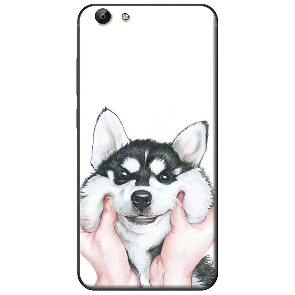 Ốp lưng Vivo Y69/Y55/Y53/V5/V5 Plus - nhựa dẻo Nựng cún