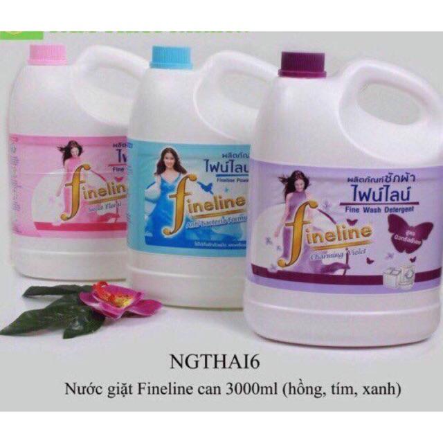 Nước giặt thái lan fineline 3 lít mau