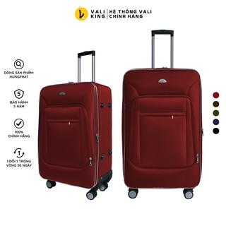 Vali kéo du lịch vải phổ thông VLX-022 kích thước 20, 24, 28 inch chính hãng Hùng Phát thumbnail