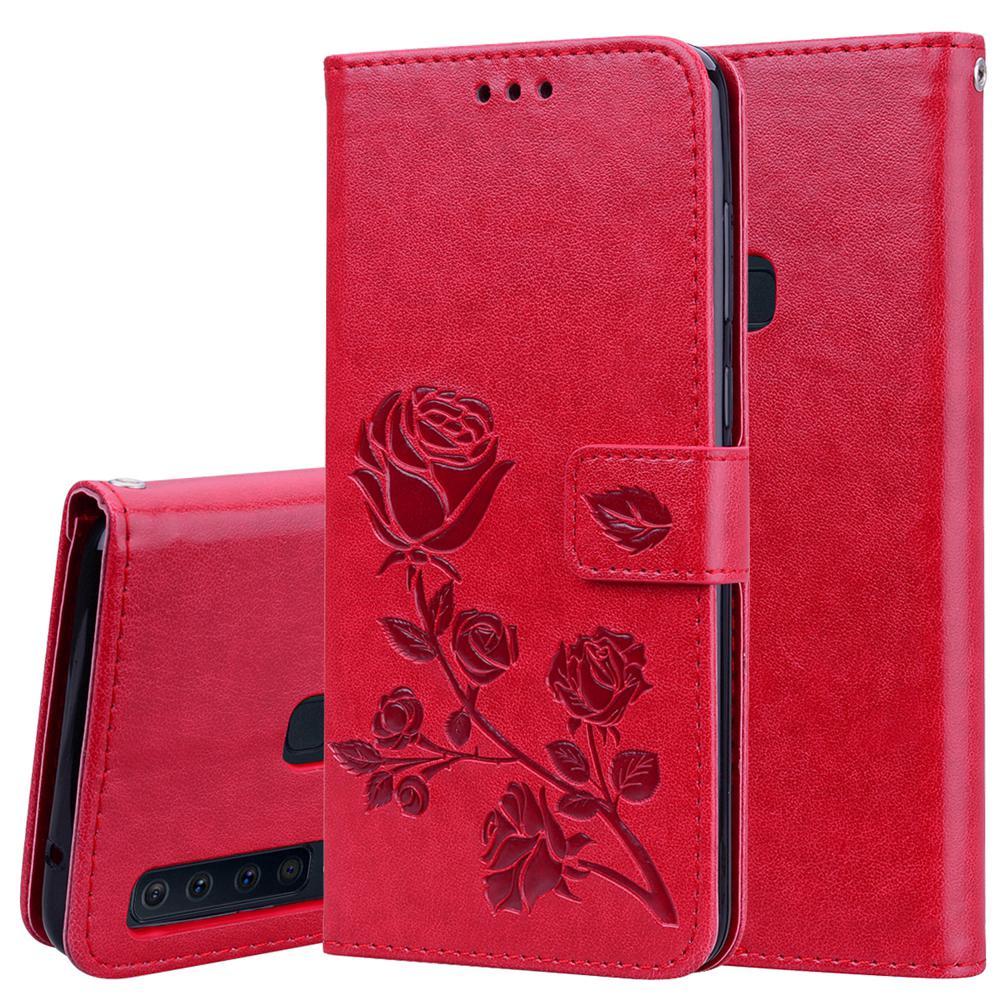 Bao da điện thoại họa tiết hoa hồng nhã nhặn dành cho Samsung Galaxy A9 2018