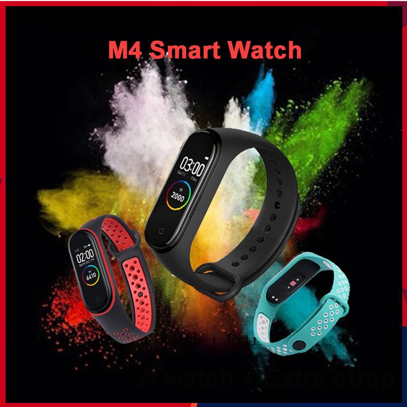 Đồng hồ thông minh đeo tay M4 kết nối bluetooth chống thấm nước theo dõi sức khỏe dành cho nam và nữ
