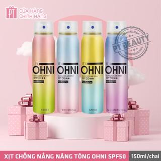 Xịt chống nắng nâng tông OHNI Suncreen Air spray SPF50+ 150ml thumbnail