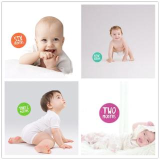 king Infants Monthly Growth Stickers Newborn Baby Photography Props